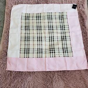 Burberry Silk Scarf W/Tags